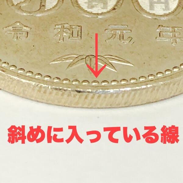 斜めギザ500円玉
