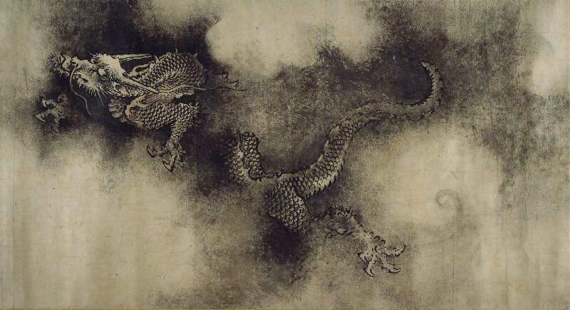 「九龍図巻」陳容画(南宋)、ボストン美術館蔵