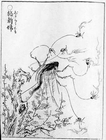 鳥山石燕『画図百鬼夜行』より「絡新婦」