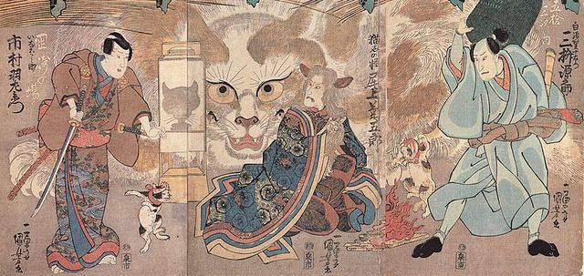 歌川国芳画『梅初春五十三駅』より