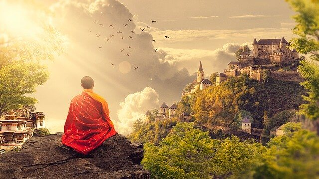 達観僧侶画像