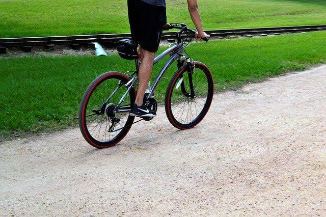 自転車キツイ