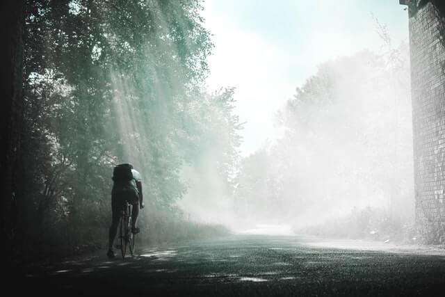 森の自転車
