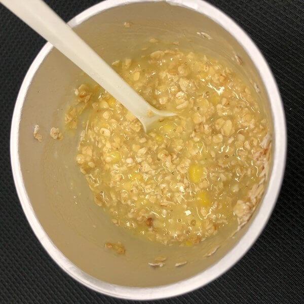 オートミール混ぜたコーンスープ